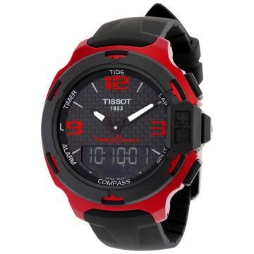 Tissot t-race touch red aluminium men's sports watch