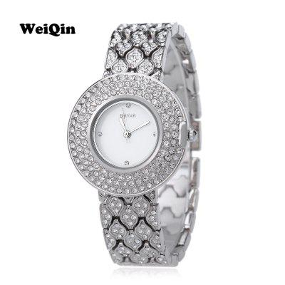 Weiqin w4243 female quartz watch artificial crystal diamond