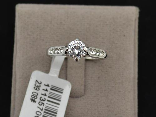 White gold plated engagement ring, free ring box*sizes 5.5,
