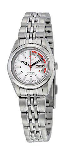 Women's stainless steel seiko 5 automatic dress watch white