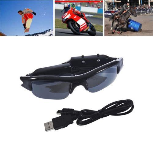 Hd 720p glasses hidden eyewear spy camera security dvr video