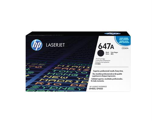 Hp 647a black toner cartridge; for use with hp
