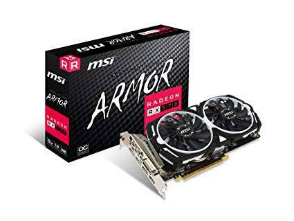 Msi armor rx570 8gb oc graphics card** excellent condition