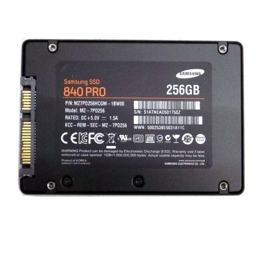Samsung 840 pro 256gb solid state drive 2.5''