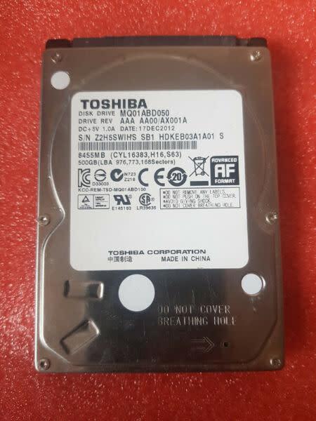 Toshiba mq01abd050 500gb 5400 rpm 8mb cache sata 3.0gb/s
