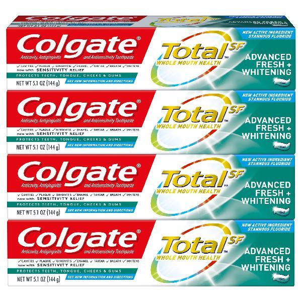 Colgate total whitening toothpaste, advanced fresh +