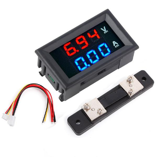 3pcs 0.56 inch blue red dual led display mini digital