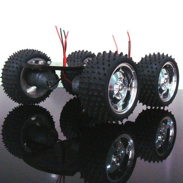 4wd smart robot car chassis kits metal motor large torque