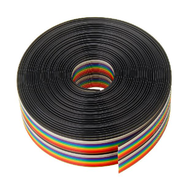 5m 1.27mm pitch ribbon cable 20p flat color rainbow ribbon