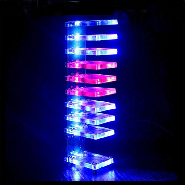 Diy dream crystal electronic column light cube led music