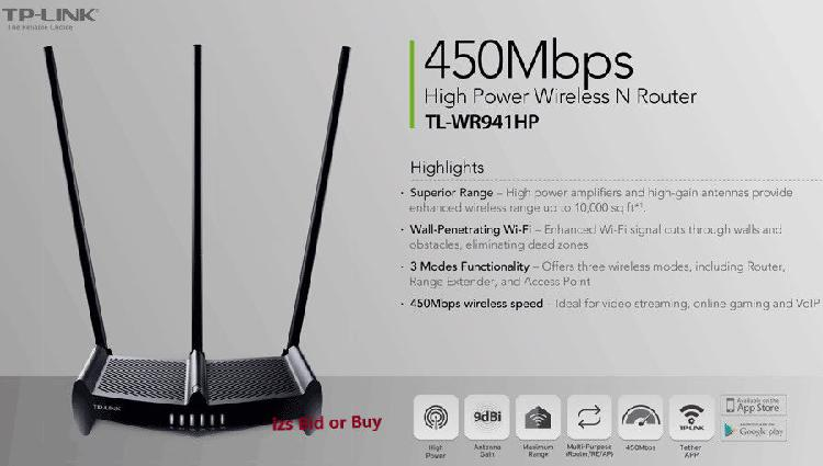 Tp-link 450mbps high power wireless n router ***high power