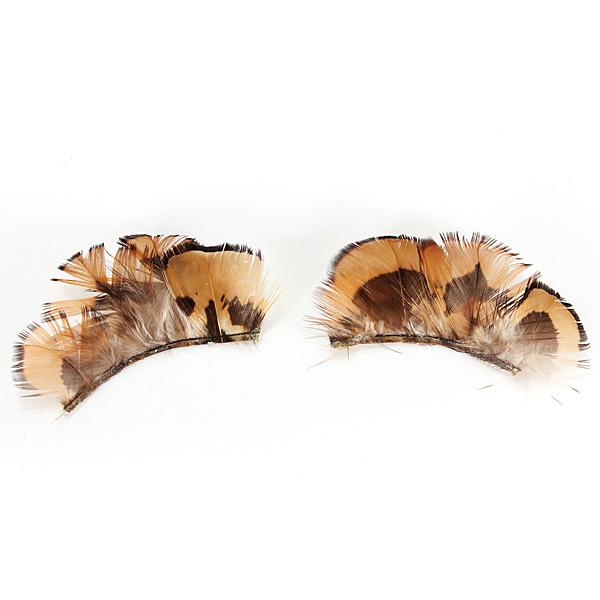 Makeup feather exaggerate masquerade false eyelashes