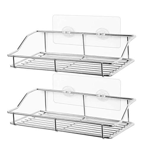 Smartake 2-pack shower caddy, adhesive bathroom shelf wall