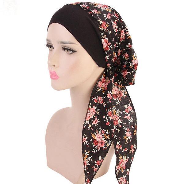 Women's head scarf chemo cancer hat cap sleep turban head