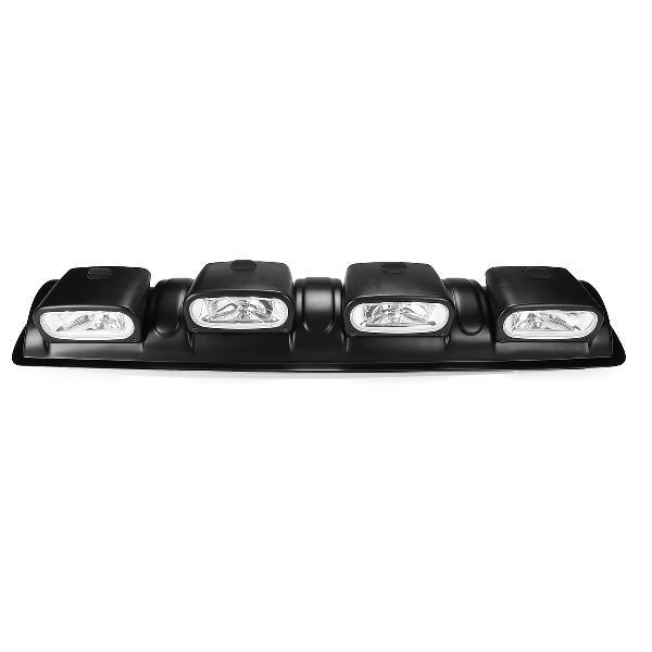 12v h3 black car 4x4 roof top bar fog lights universal off