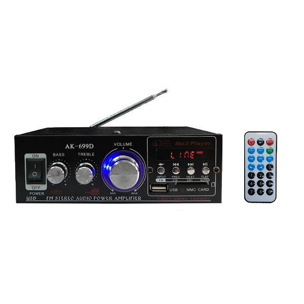 180w+180w power 2 channel usb black car audio amplifier hifi