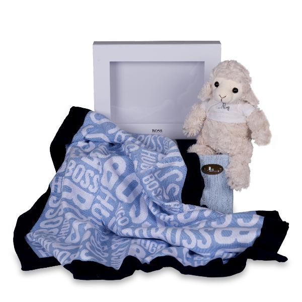 Hugo boss baby blanket gift set