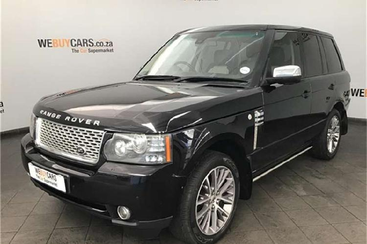 Land rover range rover supercharged autobiography black 2010