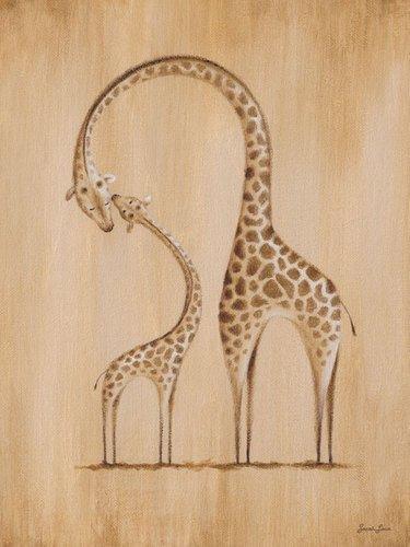 Oopsy daisy, fine art for kids safari kisses giraffe