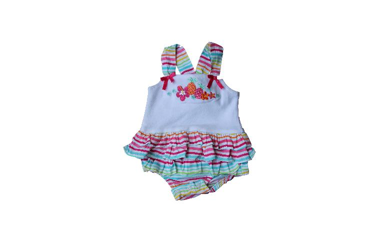 Summer colourful fruity baby grow - newborn