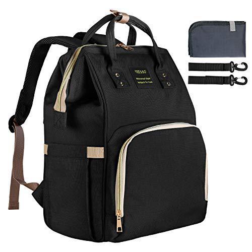 Teesso diaper bag backpack waterproof durable large capacity