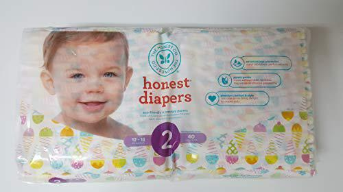 The honest company diapers ice cream cone, size 2, 40 count
