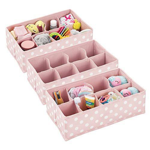 Mdesign soft fabric dresser drawer and closet storage