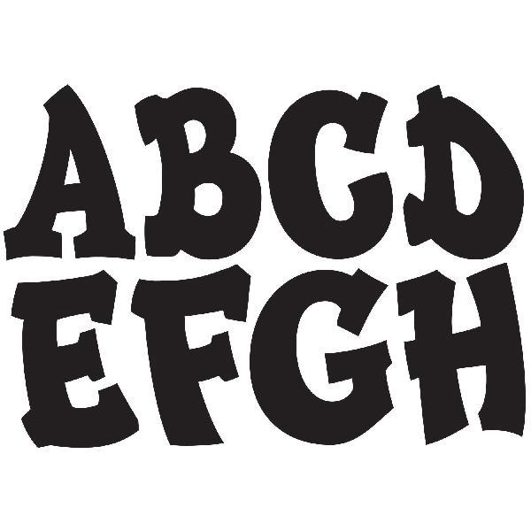 Ashley productions designer modern hip magnetic letters
