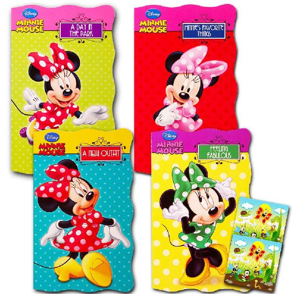 """Disney minnie mouse """"my first books"""" (set of 4 shaped board"""