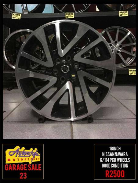 Garage sale 23 r2500 18 inch nissan navara wheels rims mags