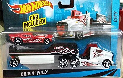 Hot wheels city rig - drivin' wild semi and trailer with