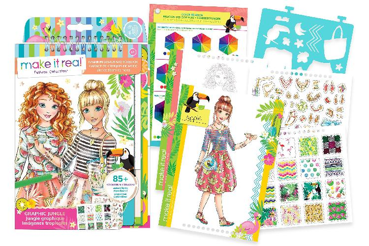 Make it real 3201 fashion design sketchbook - graphic jungle