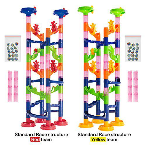 Marble run challenge 122 piece set. race to the bottom.