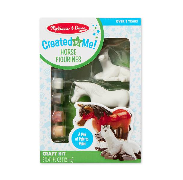Melissa & doug decorate-your-own horse figurines craft kit: