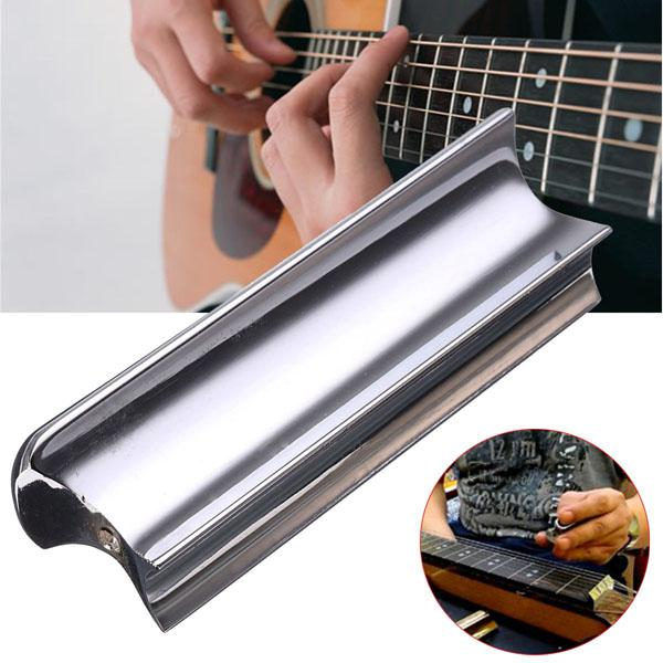 Stainless steel slide dobro tone bar for electric guitar