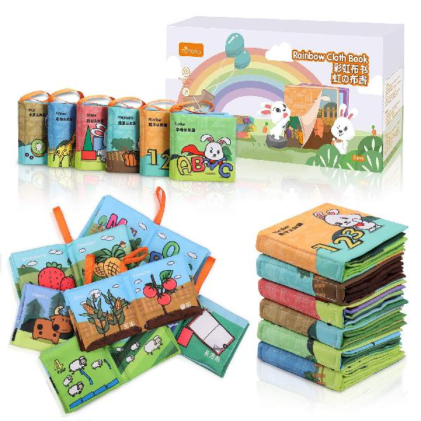 Tumama soft books for babies, baby first soft books early