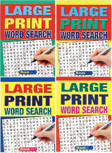 Wf graham set of 4 large print a5 size 74 page word search
