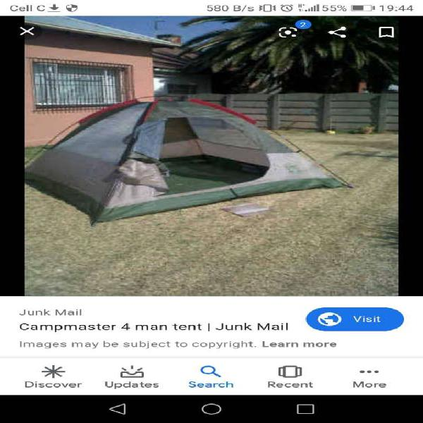 4 man + 2 man campmaster dome tente r700.