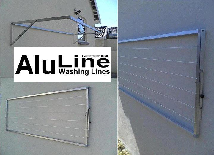 Aluline washing lines - fold down