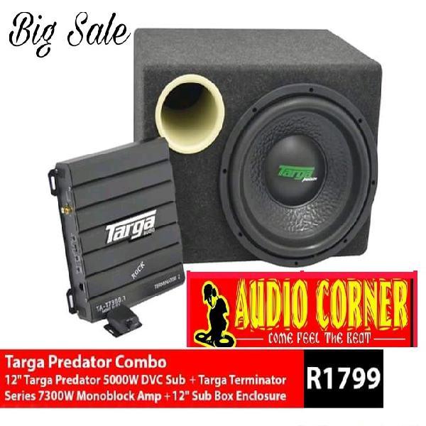 Car sound combo targa 5000w