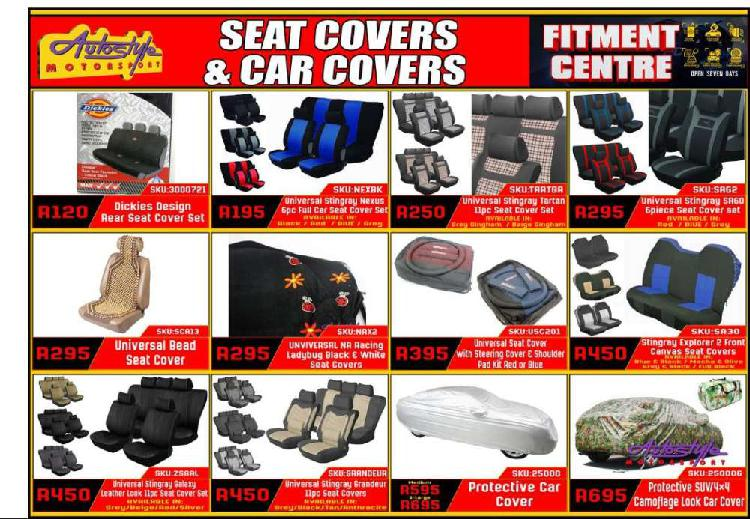 Seat covers, seat protectors, car covers, car protectors