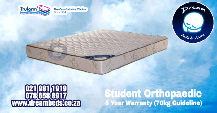 Double student orthopaedic mattress for sale - brand new!