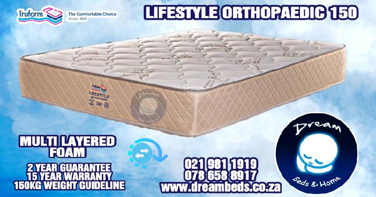 Double bed mattress -150kg + orthopedic foam - no springs -
