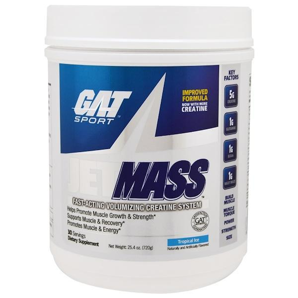 Gat, sport, jetmass, volumizing creatine system, tropical