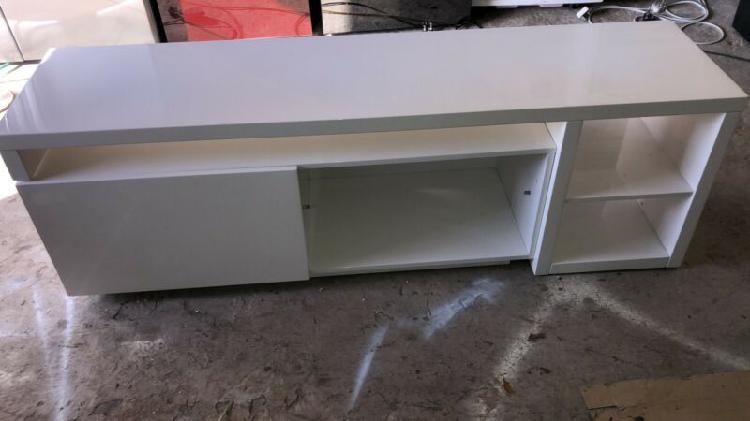 Plasma tv unit modern extendible & reversible 2 piece -