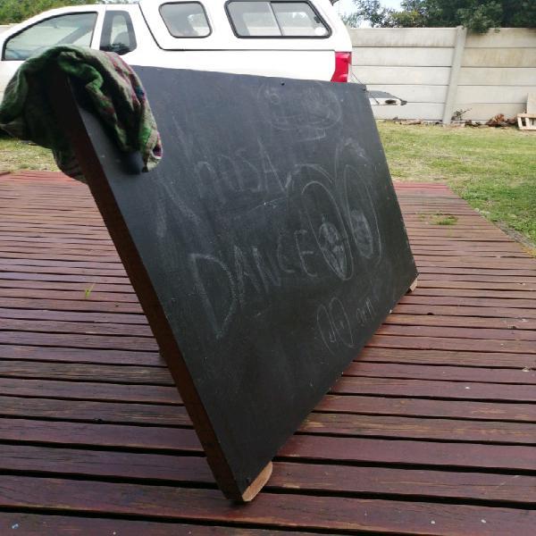 Wooden framed metal sign board