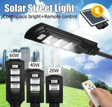 20w 40w 60w solar power led wall street light lighting