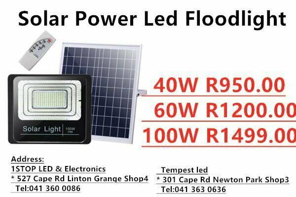 40w 60w 100w outdoor reflector remote control solar power