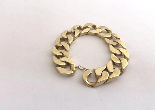 9 ct gold heavy mens bracelet