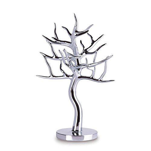 Accent plus jewelry organizer stand, silver tree girls